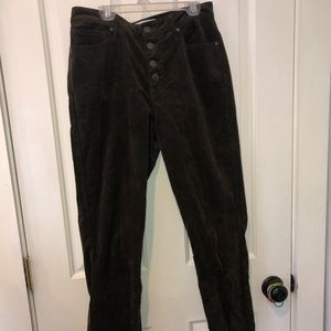Corduroy Skinny Jeans - High Waisted